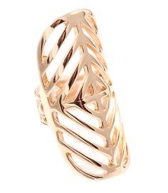 Sanai Chevron Inspired Ring  Color: Gold  http://bazaargold.com/product/sanai/ #fashion #jewelry #unique #boutique #gold #Bazaargold