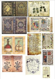Dollar Store Dollhouse: Dollhouse Printies - Miniature Old Medieval Books & Pages Alchemy book pages 😍 Diy Dollhouse Books, Haunted Dollhouse, Haunted Dolls, Dollhouse Miniatures, Dollhouse Ideas, Vitrine Miniature, Miniature Dolls, Dollhouse Miniature Tutorials, Medieval Books