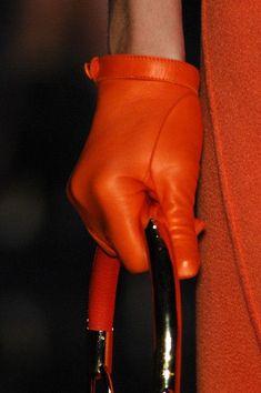 Love the little short gloves and orange leather so different! ~Christian Dior Leather Gloves~Christmas in Paris Orange Mode, Cuir Orange, Orange Leather, Cristian Dior, My Favorite Color, My Favorite Things, Orange You Glad, Orange Fashion, Orange Crush