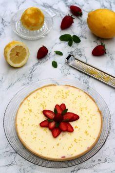 Tarte panna cotta au citron et fraises