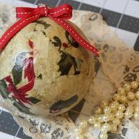 Scrap Fabric Christmas Ball - via @Craftsy