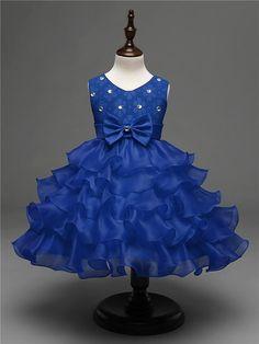 Blush Flower Girl Dresses, Girls Lace Dress, Girls Formal Dresses, Girls Party Dress, Wedding Party Dresses, Bridesmaid Dresses, Dress Red, Baby Girl Birthday Dress, Baby Dress