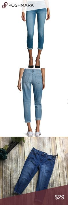 Stylus Skinny Ankle Cropped Jeans Skinny ankle cropped jeans. Size 33/16....21 inch inseam. 9 1/2 inch rise. New with tags. Light stretchable material. Cotton rayon and spandex blend material. Stylus Jeans Ankle & Cropped