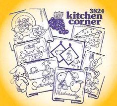 Aunt Martha 3824 - Kitchen Corner