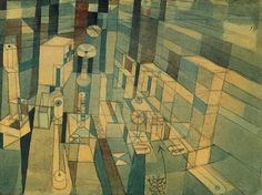 Paul Klee... Room Perspective Red/Green...1921