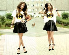Geek Fashion: Cropped Batman Tee & My Batman OOTD