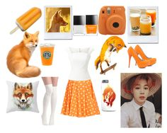"""Orange and White"" by yoonmin2725 ❤ liked on Polyvore featuring Butter London, Fujifilm, Jeremy Scott, Roland Mouret and Veda Soul"