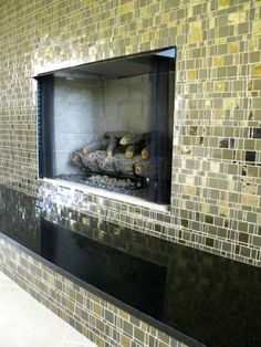 Liberty Bronzite Trend Tile Fireplace