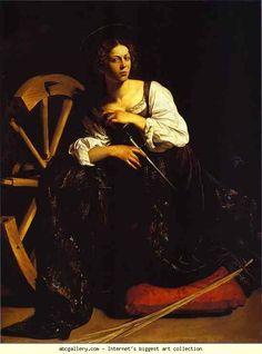 Caravaggio. St. Catherine of Alexandria.