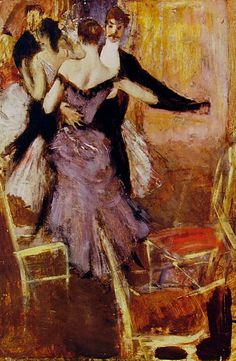 "Ballerina in Mauve (1922). Giovanni Boldini (Italian, Impressionism, 1842-1931).  By the end of the 19th century, Boldini had established his reputation as the epitome of the Belle Époque portraitist, with a glittering clientele who sought out his studio to be portrayed by the ""Parisian from Italy."""