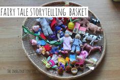 Fairy tale story prop basket....what a wonderful idea!