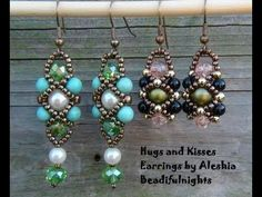 Hugs and Kisses Earrings #Seed ~ Seed Bead Tutorials