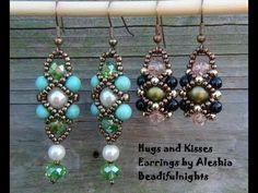 Cara Jahitan Manik : Hugs and Kisses Beaded Earrings Tutorial - % - http://carajahitanmanik.com/cara-jahitan-manik-hugs-and-kisses-beaded-earrings-tutorial/