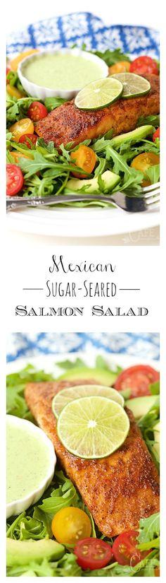 Mexican Sugar-Seared Salmon Salad