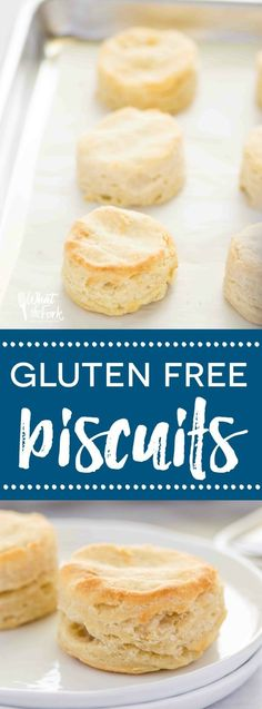 The BEST gluten free biscuits! They're light, flaky, and have a really great texture. Recipe from @whattheforkblog | whattheforkfoodblog.com | gluten free biscuit recipe | how to make gluten free biscuits | gluten free biscuits that aren't hockey pucks | buttery gluten free biscuits | easy biscuit recipe | gluten free biscuits that don't suck