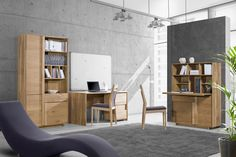 Cosy workspace. Ideas for home office. Interior design. Woodline Home Concept - designed by Klose.  #KloseFurniture #homeoffice #woodenfurniture #interiordesign