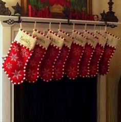 Curtain Rod Stocking Holder | Make Create Do