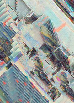 Pixel by Pixel, This Design Team Constructs a Futuristic Wonderland of Levels - VICE Surface Design, Creators Project, Glitch Art, Grafik Design, Psychedelic Art, Art Club, New Wall, Textures Patterns, Online Art