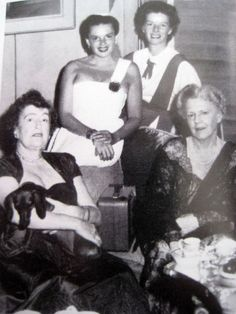 Constance Collier, Judy Garland, Katharine Hepburn visit Ethel Barrymore on her 70th birthday Katharine and Constance were romantically attached for a time.