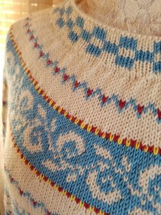 Elisabeth.H hobbyside: Haukeli genser i blå toner
