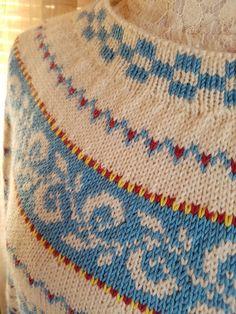 H hobbyside: Haukeli genser i blå toner Elsa, Signs, Knitting, Tejidos, Tricot, Shop Signs, Stricken, Knitwear, Crocheting