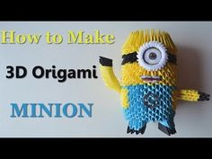 How to make an Origami Minion - Birthday Gifts - DIY Paper Crafts - 3D Toys - Giulia's Art - YouTube