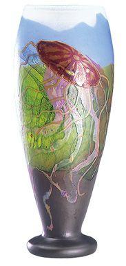 Emile Gallé           Vase 「クラゲ文花瓶」c.1900 Kitazawa Museum of Art