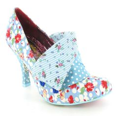 Irregular Choice Flick Flack Womens Court Shoes in Blue, White & Red at Scorpio Shoes. ome and see our collection of women's shoes. Quirky Shoes, Unique Shoes, Pin Up Shoes, Me Too Shoes, Pretty Shoes, Beautiful Shoes, Flick Flack, Shoe Boots, Shoes Heels