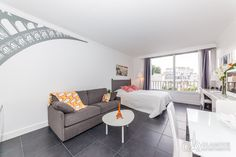 Cool furnished studio in Paris for rent at Rue des Acacias in the 17th arrondissement of Paris. The apartment is very light and comfortable, what will make your Paris vacation more enjoyable and memorable.