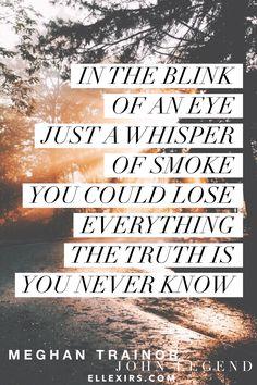 ❥ Like I'm Gonna Lose You. #MeghanTrainor #JohnLegend #lyrics