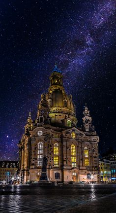 Dresden Frauenkirche and milky way - Dresden - Germany