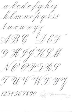 Lesson in Copperplate script