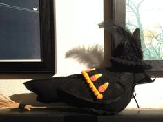 Halloween Witch Bird by theHANDMADEinCAshop on Etsy, $20.00