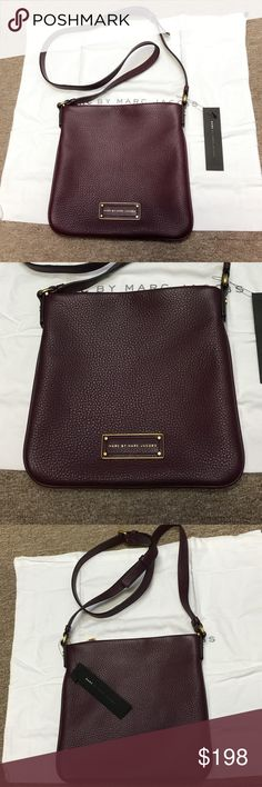"""Marc by Marc Jacos crossbody bag. New without tag Marc by Marc Jacobs crossbody 10""""x10"""" burgundy Marc by Marc Jacobs Bags Crossbody Bags"""