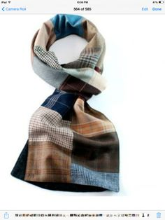 Patchwork scarf from mens suiting