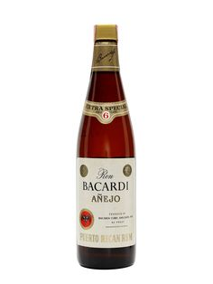 Bacardi Añejo 6 Year Old / Puerto Rico / Bot.1970s. Añejo Bacardi, produced in Puerto Rico Bacardi in the 1970s and aged for 6 years before bottling.