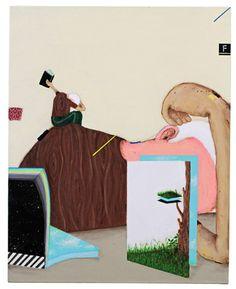 Bruno Kurru   Escolha (da série Condensação de Estados Sensíveis)  Acrílica e betume sobre tela  50 x 40 cm