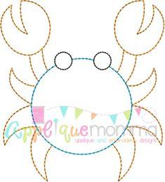 Crab 4 Vintage Embroidery Design