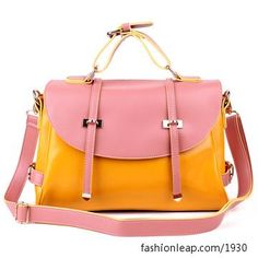 No leather but sooo cute! from fashionleap.com  (FL004901) 2012  Contrast Color Postman Bag/ Candy Color Packet/fashion Cross-body Handbag