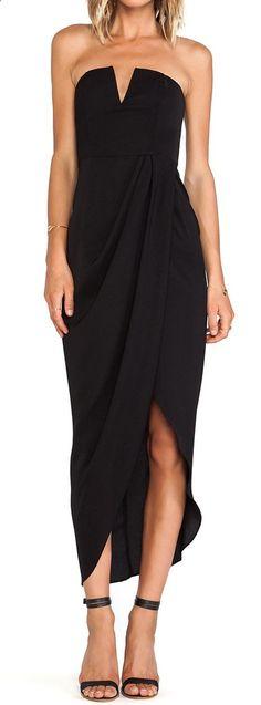 Drape bustier dress - $23
