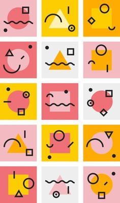 Good Vibes A theme for Big Cartel by Darn Good Fivestar Branding Design and Branding Agency Inspiration Gallery Graphisches Design, Shape Design, Icon Design, Brand Design, Elements Of Design Shape, Design Ideas, Ui Design Tutorial, Memphis Design, Ios App Design
