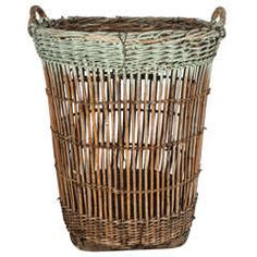 Rustic Large Scale Reed Basket