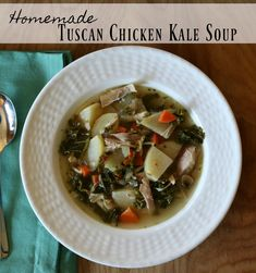 Tuscan Chicken Kale Soup