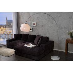 Moderne vloerlamp Big bow wit 185cm- 205cm dimmer - 30099