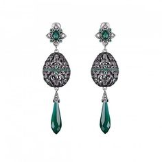 Axenoff Jewellery » Earrings «Easter Egg» - Silver, Green Agate, Amethyst.