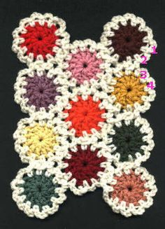 Crochet Yoyo Patterns : Crochet yo yos on Pinterest Yo Yo, Crochet Afghan ...