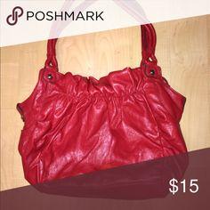 large red handbag bright red large shoulder bag Bags Shoulder Bags