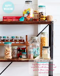 I love Mason Jars they are good for many things even storage!
