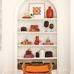 How to Style Open Shelves | Phoebe Howard's formula for curating shelves is foolproof. | SouthernLiving.com