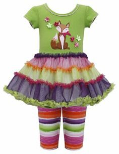 * TODDLER GIRLS 2T-4T * Green Multicolor Fox Applique Glitter Tutu Dress/Legging Set GR2BU, Green, Bonnie Jean Toddler Girls 2T-4T Special Occasion, Flower Girl Social Party Dress Bonnie Jean http://www.amazon.com/dp/B00KTJRQOK/ref=cm_sw_r_pi_dp_LDIKtb057JQ69DSN